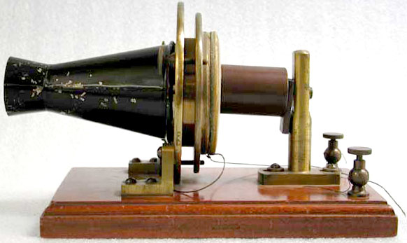 Telephone, experimental.  Patented by Alexander Graham Bell in 1876, patent no. 174,465.  EM*252599.
