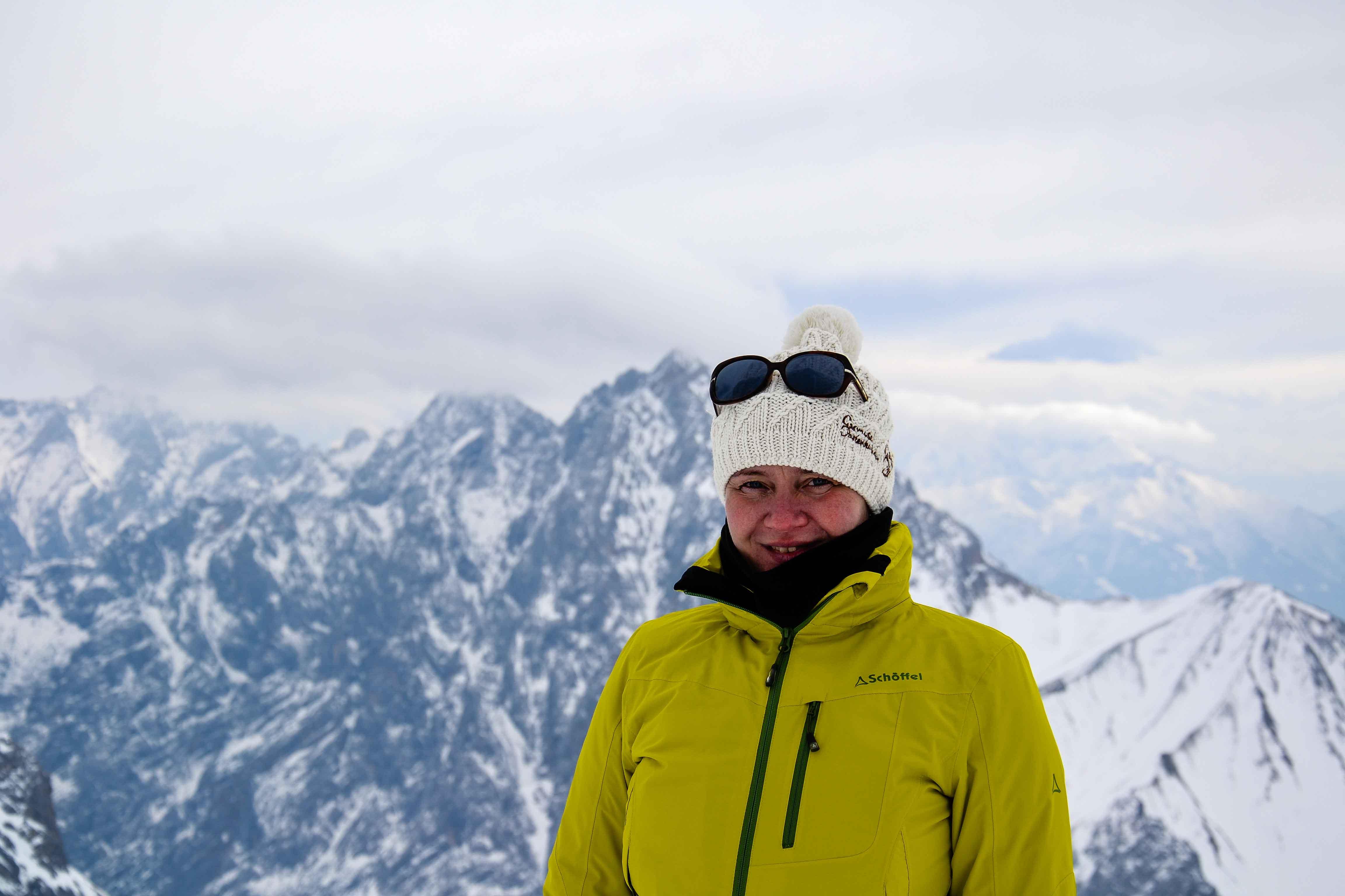 Auf der Zugspitze vor gewaltiger Kulisse. Foto: Birgit Pielen