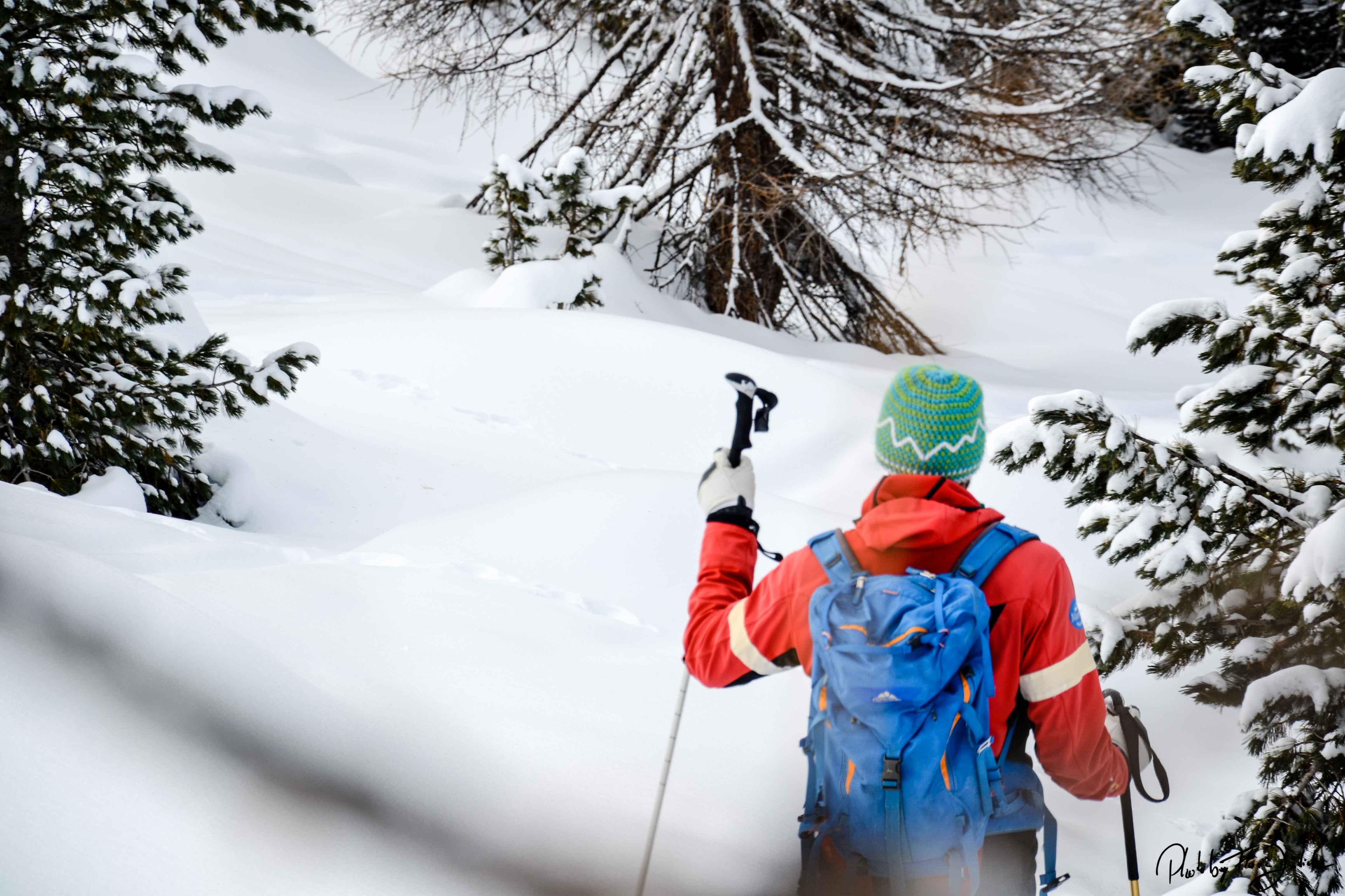 Downhill zur Fanes Hütte und anschließend ein gutes Hirschragout. Foto: Flora Jädicke
