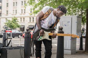 Musiker in der Nähe des White House. Foto: Flora Jädicke