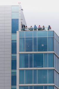 Rooftopparty am Wharf. Foto: Flora Jädicke