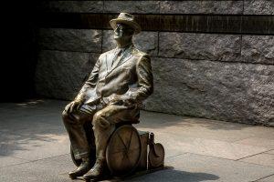 Franklin Delano Roosevelt Memorial am Tidal Bassin. Der Präsident saß im Rollstuhl, was meist getarnt wurde. Foto: Flora Jädicke