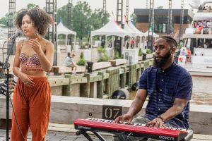 Musiker an der Southwest Waterfront Promenade The Wharf in Washington DC. Foto: Flora Jädicke