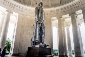 Thomas Jefferson Statue im Thomas Jefferson Memorial. Die Bronzestatue ist 6,5 Meter hoch. Foto: Flora Jädicke