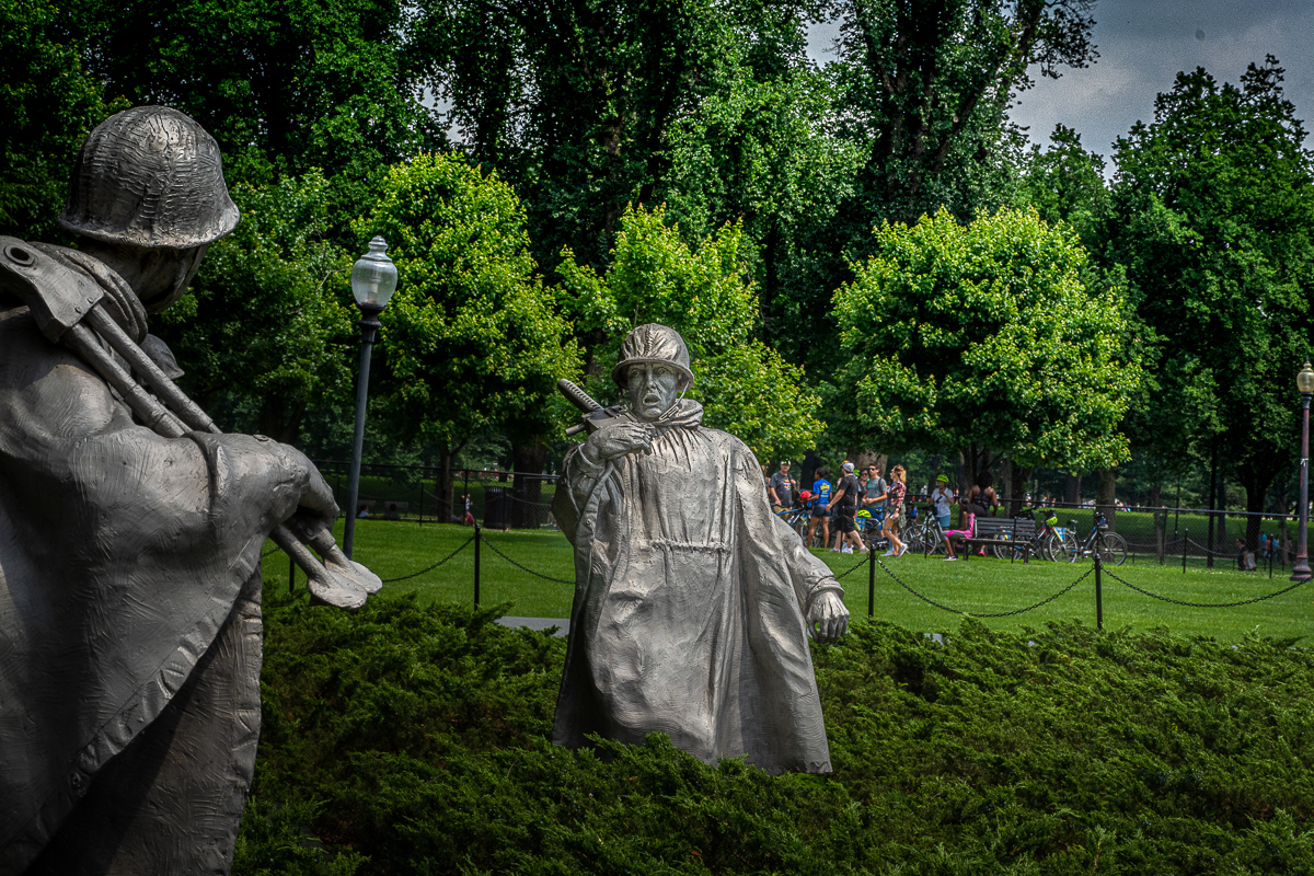 Korean War Veterans Memorial an der National Mall. Foto: Flora Jädicke